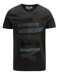 Tmavosivé pánske tričko s potlačou Garcia Jeans