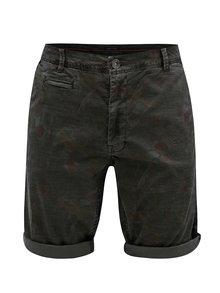 Hnedé pánske vzorované chino kraťasy Garcia Jeans