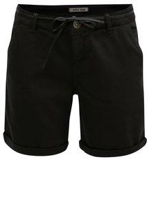 Čierne dámske kraťasy s nízkym pásom Garcia Jeans
