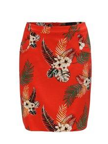 Červená kvetovaná sukňa Dorothy Perkins