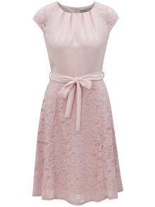 Ružové čipkové šaty so zaväzovaním Billie & Blossom