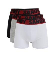 Set de 3 perechi de boxeri cu logo pentru barbati -Jimmy Sanders