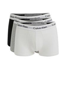 Súprava troch classic fit boxeriek v čiernej, bielej a sivej farbe Calvin Klein