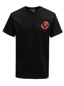 Tricou negru cu print pentru barbati MEATFLY Bruce