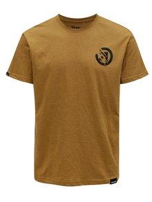 Tricou maro-deschis cu print pentru barbati MEATFLY Bruce