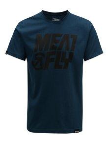 Tricou albastru inchis pentru barbati MEATFLY Shaper