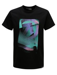 Tricou negru pentru barbati MEATFLY Domino