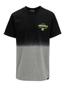 Tricou gri-negru pentru barbati MEATFLY Spill