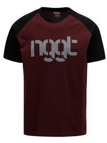 Černo-vínové pánské tričko NUGGET Asset