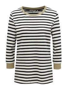 Čierno-biely pruhovaný dámsky sveter s 3/4 rukávom Garcia Jeans