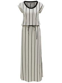 Rochie maxi negru-alb in dungi Garcia Jeans