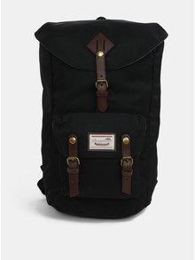 Čierny batoh s koženými detailmi Doughnut Heritage