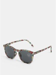 Hnedo–zelené vzorované slnečné okuliare IZIPIZI