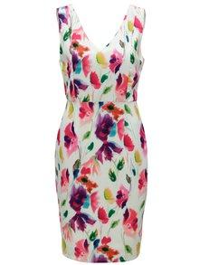 Růžovo-zelené šaty s véčkovým výstřihem na zádech Smashed Lemon