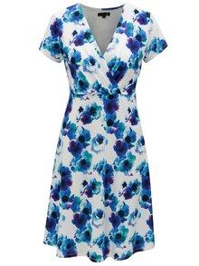 Bílo-modré květované šaty s překládaným výstřihem Smashed Lemon