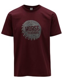 Vínové pánské tričko s potiskem Horsefeathers Helmet