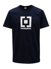 Tmavě modré pánské tričko s potiskem Horsefeathers Base