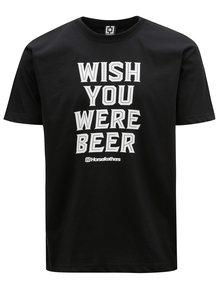 Černé pánské tričko s potiskem Horsefeathers Prayer