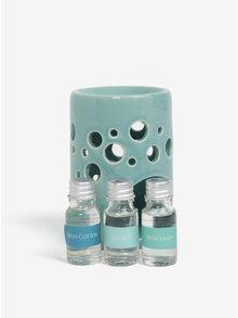 Set suport si trei uleiuri parfumate intr-o cutie cadou SIFCON