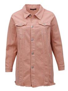 Ružová dámska rifľová bunda Zizzi