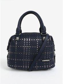 Tmavě modrá kožená kabelka s metalickými detaily Liberty by Gionni Patricie