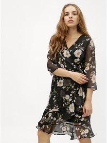 Čierne kvetované šaty VERO MODA Kay