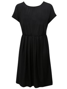 Čierne šaty s prekladanou zadnou časťou Zizzi