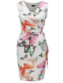 Ružovo-biele šaty s motívom motýľov Smashed Lemon