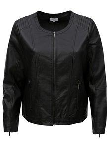 Černá dámská koženková bunda Zizzi
