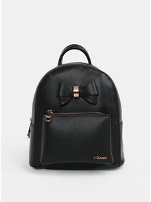 Čierny malý batoh s mašľou Gionni Avril