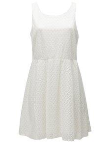 Krémové čipkové šaty bez rukávov Zizzi