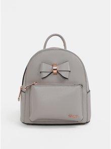 Sivý malý batoh s mašľou Gionni Avril