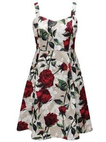 Béžové kvetované šaty na ramienka Zizzi