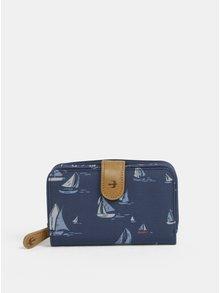 Tmavě modrá peněženka s motivem plachetnic Brakeburn