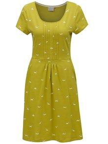 Svetlozelené šaty s motívom psíkov Brakeburn