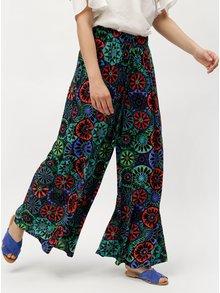 Modro-černé volné vzorované kalhoty Desigual Janelle