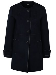 Tmavomodrý kabát v semišovej úprave ZOOT