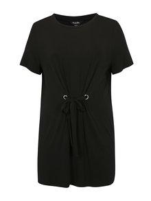 Černé šaty se zavazováním v pase simply be.