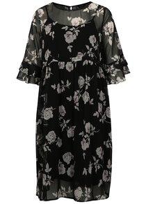 Černé květované šaty simply be.