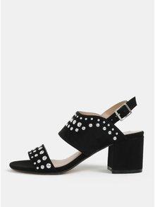 Čierne sandálky v semišovej úprave na podpätku Dorothy Perkins