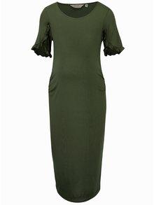 Kaki puzdrové tehotenské šaty Dorothy Perkins Maternity
