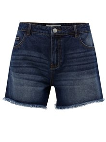 Pantaloni scurti albastru inchis din denim cu talie inalta Jacqueline de Yong Cocetta