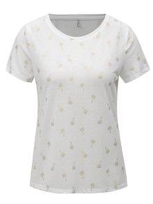 Bílé tričko s potiskem ONLY New Isabella
