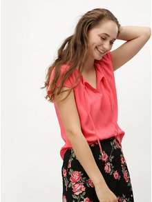 Bluza de dama corai cu model discret s.Oliver