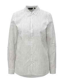 Sivo–biela pruhovaná košeľa s dlhým rukávom Dorothy Perkins
