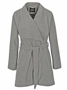 Šedý žíhaný lehký kabát ZOOT