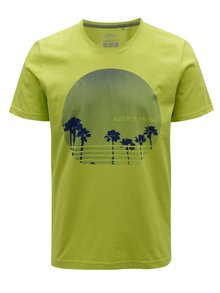 Svetlozelené pánske tričko s potlačou s.Oliver