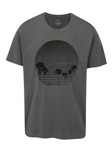Šedé pánské tričko s potiskem s.Oliver