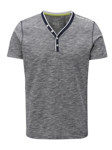 Tmavě modré pruhované pánské slim fit tričko s.Oliver