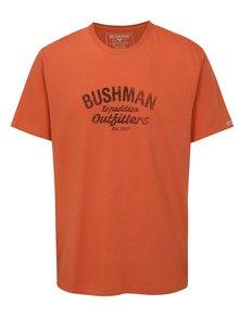 Oranžové pánské tričko s potiskem BUSHMAN Cornhill